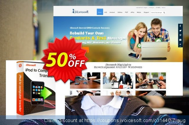 iStonsoft iPod to Computer Transfer discount 50% OFF, 2019 Christmas Day offering sales
