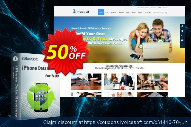 iStonsoft iPhone Data Recovery for Mac discount 50% OFF, 2020 Halloween offering sales
