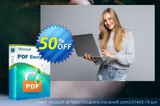 iStonsoft PDF Encryption discount 50% OFF, 2020 Back to School shopping promotions