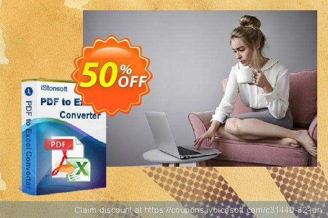 iStonsoft PDF to Excel Converter discount 50% OFF, 2020 January promotions