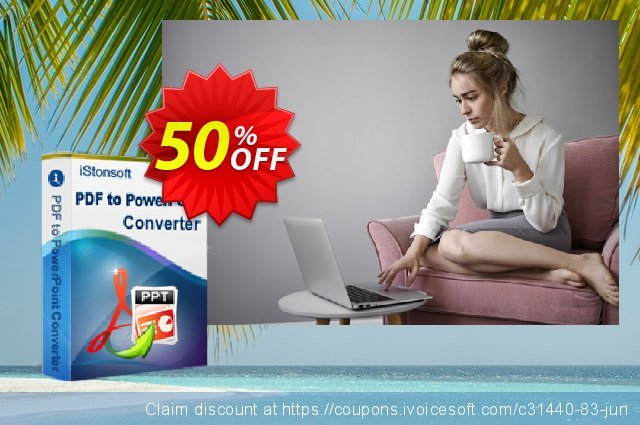 iStonsoft PDF to PowerPoint Converter discount 50% OFF, 2020 Happy New Year sales