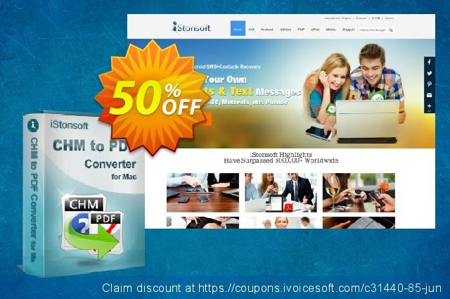iStonsoft CHM to PDF Converter for Mac discount 50% OFF, 2020 Teacher deals offering sales