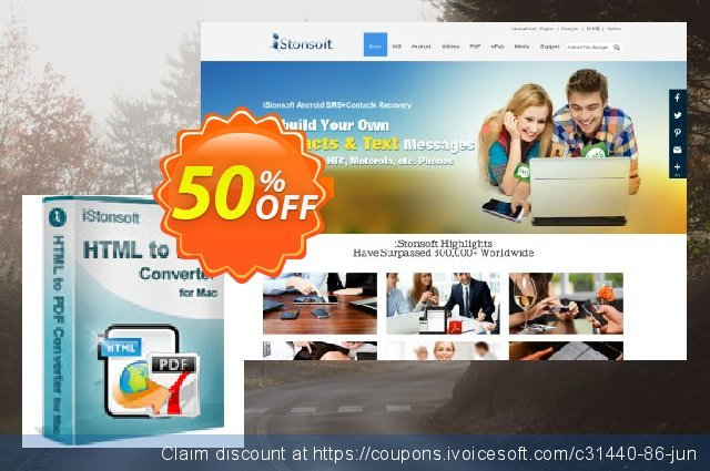 iStonsoft HTML to PDF Converter for Mac discount 50% OFF, 2020 Halloween offering sales