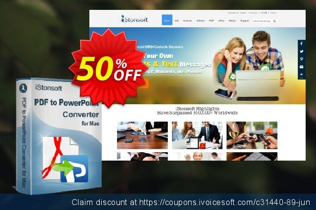 iStonsoft PDF to PowerPoint Converter for Mac discount 50% OFF, 2020 Halloween offering sales