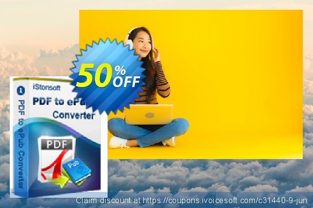 iStonsoft PDF to ePub Converter discount 50% OFF, 2020 Halloween offering sales