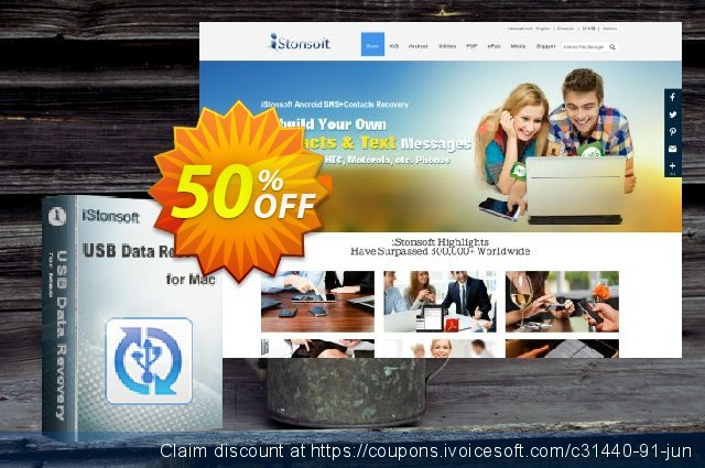iStonsoft USB Data Recovery for Mac discount 50% OFF, 2020 Chocolate Day offering sales