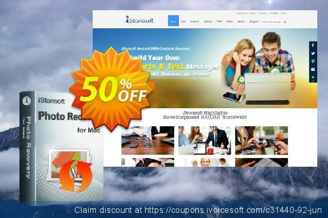 iStonsoft Photo Recovery for Mac discount 50% OFF, 2019 Back to School promo offering sales