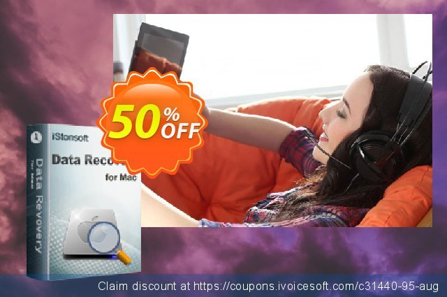 iStonsoft Data Recovery for Mac discount 50% OFF, 2019 Christmas & New Year offering discount