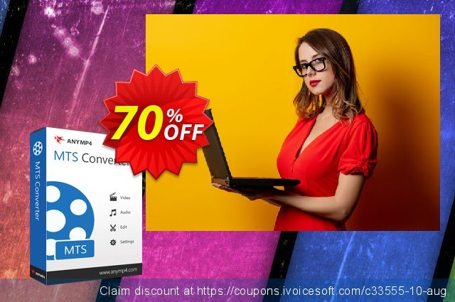 AnyMP4 MTS Converter Lifetime discount 70% OFF, 2021 Rose Day offering sales