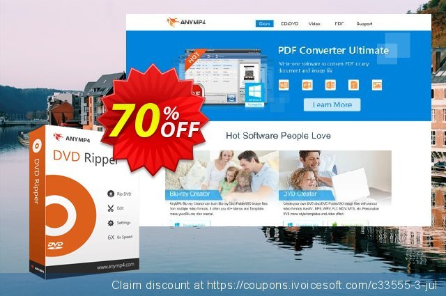 AnyMP4 DVD Ripper discount 50% OFF, 2021 New Year offering sales