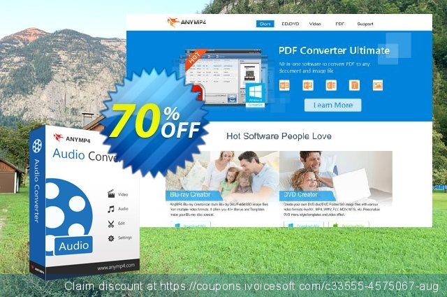 AnyMP4 Audio Converter Lifetime discount 50% OFF, 2021 Happy New Year offering sales