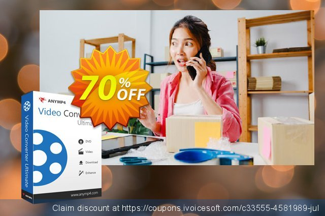 AnyMP4 Video Converter Ultimate lifetime discount 70% OFF, 2021 Mother's Day offering sales. AnyMP4 Video Converter Ultimate lifetime coupon (33555)