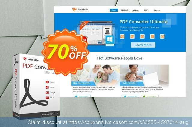 AnyMP4 PDF Converter Ultimate Lifetime 最 产品销售 软件截图