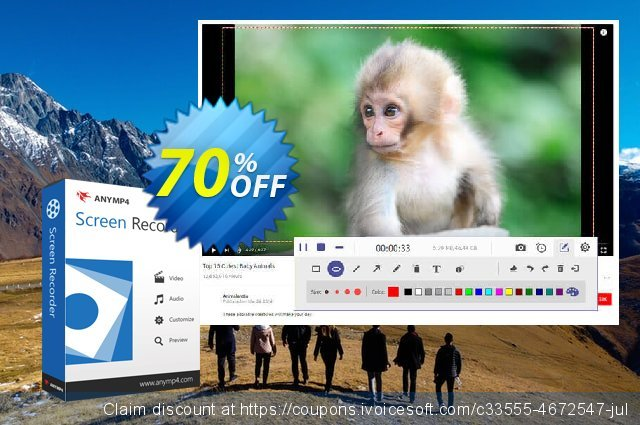 Get 50% OFF AnyMP4 Screen Recorder Lifetime offering sales