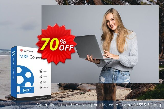 AnyMP4 MXF Converter Lifetime discount 50% OFF, 2021 Spring offering sales