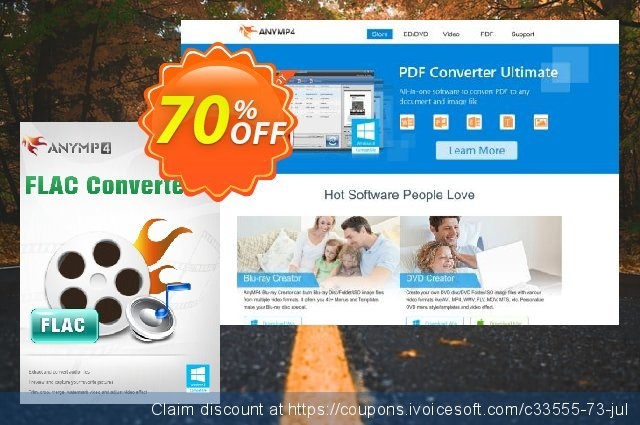 AnyMP4 FLAC Converter Lifetime License discount 50% OFF, 2020 January deals