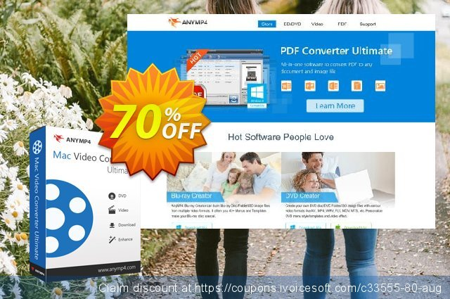 AnyMP4 Mac Video Converter Ultimate discount 40% OFF, 2019 Summer offering sales