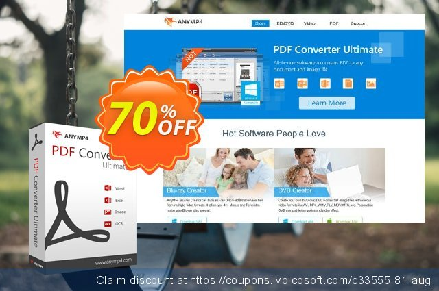 AnyMP4 PDF Converter Ultimate discount 50% OFF, 2020 Back to School Promos offering sales