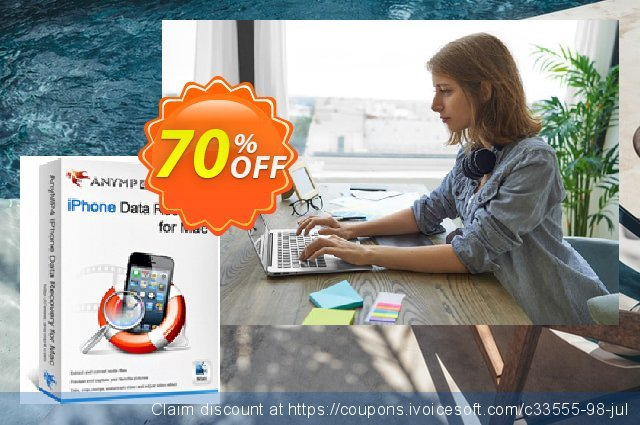 AnyMP4 iPhone Data Recovery for Mac discount 50% OFF, 2020 College Student deals offering sales