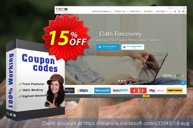 Remo Repair AVI discount 15% OFF, 2021 Labour Day offering sales. 15% Remosoftware