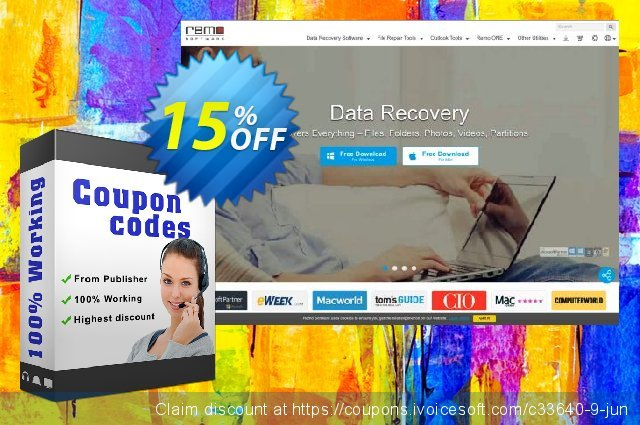 Remo Recover (Mac) - Media Edition discount 15% OFF, 2019 Black Friday offering discount
