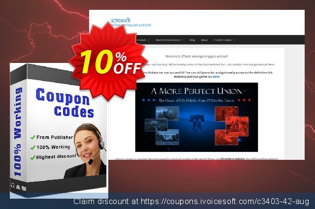 Congress Infinity for Windows discount banner 10% OFF, September