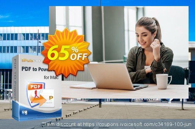 iPubsoft PDF to PowerPoint Converter for Mac 可怕的 促销 软件截图