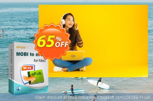 iPubsoft MOBI to ePub Converter for Mac discount 65% OFF, 2019 Father's Day discounts