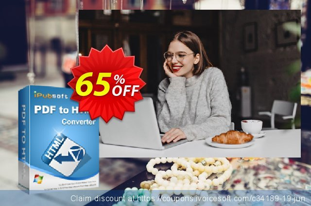 iPubsoft PDF to HTML Converter discount 65% OFF, 2019 Halloween offering sales