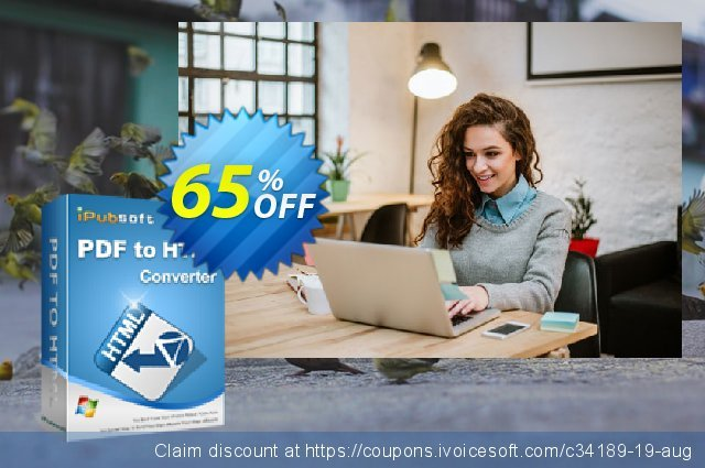 iPubsoft PDF to HTML Converter discount 65% OFF, 2019 Christmas & New Year offering sales