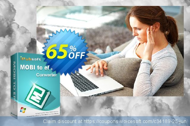 iPubsoft MOBI to ePub Converter discount 65% OFF, 2019 Back to School coupons offering sales