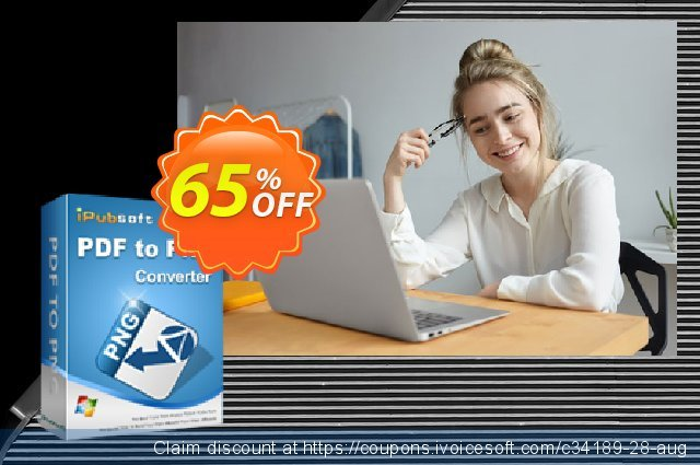 iPubsoft PDF to PNG Converter discount 65% OFF, 2019 Christmas & New Year offer