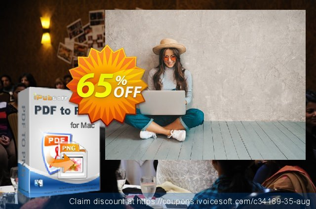 iPubsoft PDF to PNG Converter for Mac discount 65% OFF, 2020 American Independence Day offering discount