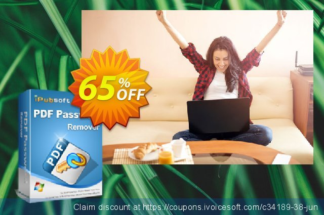 iPubsoft PDF Password Remover discount 65% OFF, 2019 Thanksgiving Day offering sales