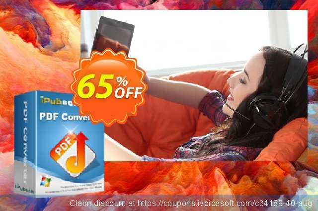 iPubsoft PDF Converter discount 65% OFF, 2019 Xmas Day offering sales