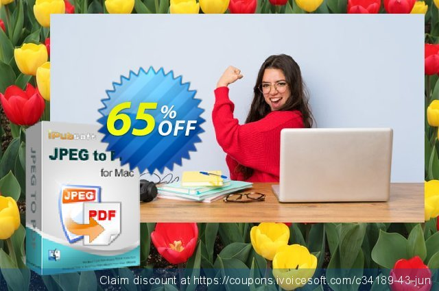 iPubsoft JPEG to PDF Converter for Mac discount 65% OFF, 2020 Summer offering sales