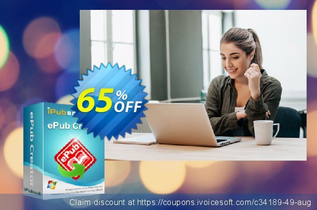 iPubsoft ePub Creator for Windows discount 65% OFF, 2019 Father's Day discounts