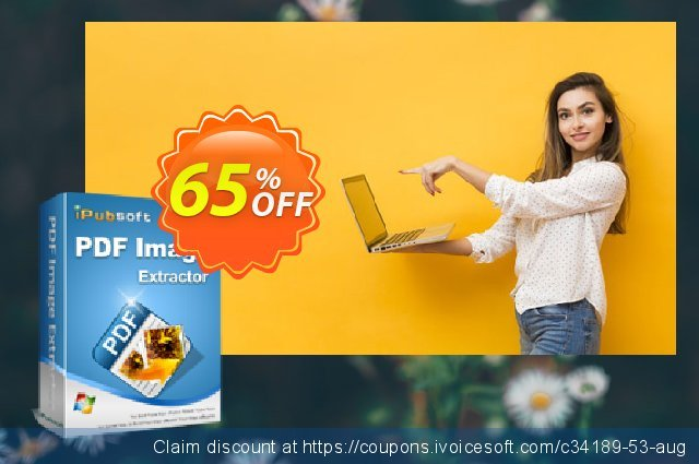 iPubsoft PDF Image Extractor discount 65% OFF, 2019 Christmas promo