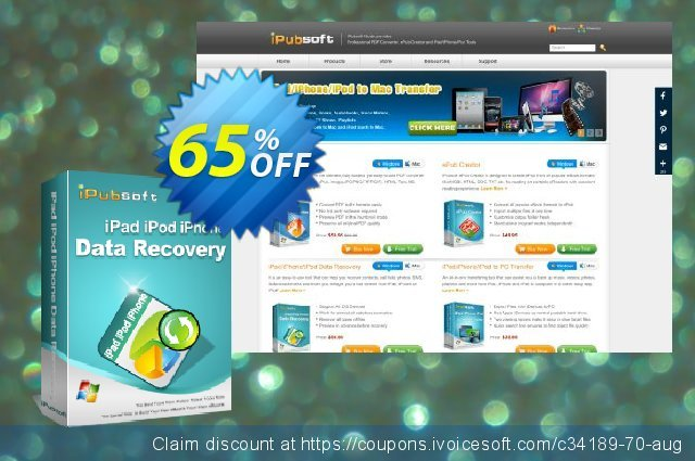 iPubsoft iPad/iPod/iPhone Data Recovery  대단하   프로모션  스크린 샷