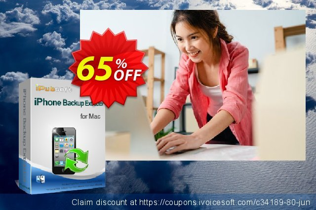 iPubsoft iPhone Backup Extractor for Mac discount 65% OFF, 2020 Back to School Promos offering sales