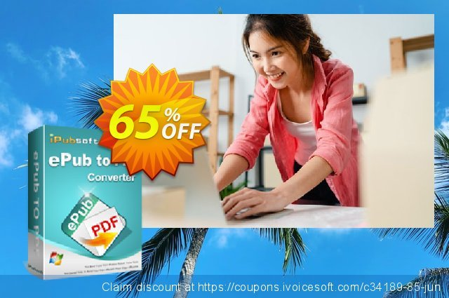 iPubsoft ePub to PDF Converter discount 65% OFF, 2020 Happy New Year offering sales