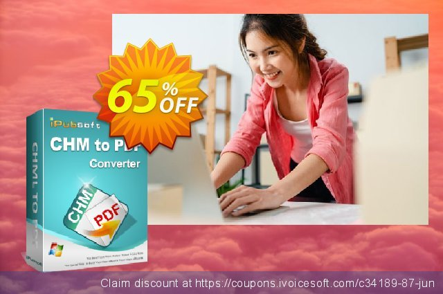 iPubsoft CHM to PDF Converter discount 65% OFF, 2020 Halloween offer