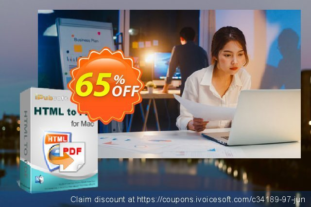 iPubsoft HTML to PDF Converter for Mac discount 65% OFF, 2019 Father's Day promo