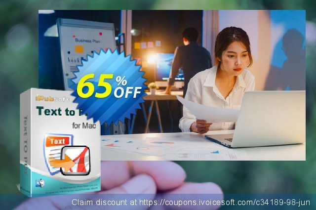 iPubsoft Text to PDF Converter for Mac discount 65% OFF, 2019 Christmas offering sales