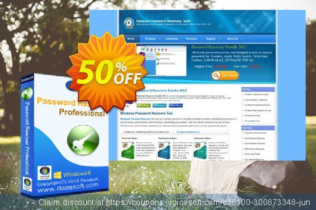 Daossoft Password Rescuer Professional discount 50% OFF, 2019 Working Day offering sales