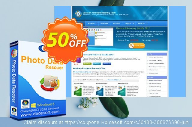 Daossoft Photo Data Rescuer discount 50% OFF, 2021 Happy New Year offering sales
