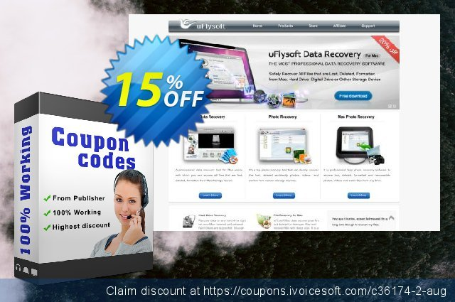 uFlysoft Data recovery for mac discount 15% OFF, 2020 Halloween offering sales