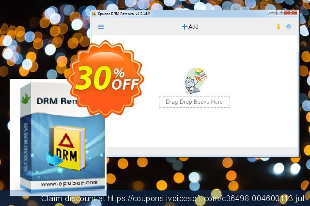 Epubor All DRM Removal Family License discount 30% OFF, 2020 Back to School season offering sales