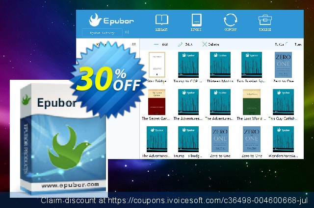Epubor for Windows Family License discount 30% OFF, 2021 New Year's Day sales