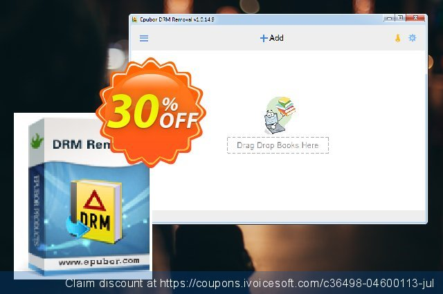 Epubor All DRM Removal Lifetime discount 30% OFF, 2020 Back to School season offering sales